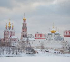 Навечерие Рождества Христова в Новодевичьем монастыре