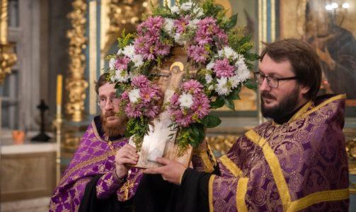 Праздник Крестовоздвижения в Новодевичьем монастыре